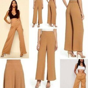 NWOT Leith high rise wide leg crepe trousers